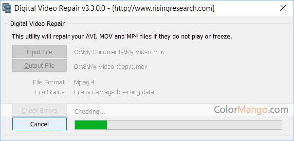 Digital Video Repair Screenshot