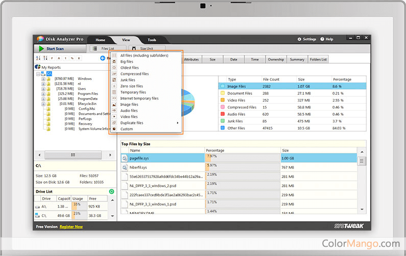 Disk Analyzer Pro Screenshot
