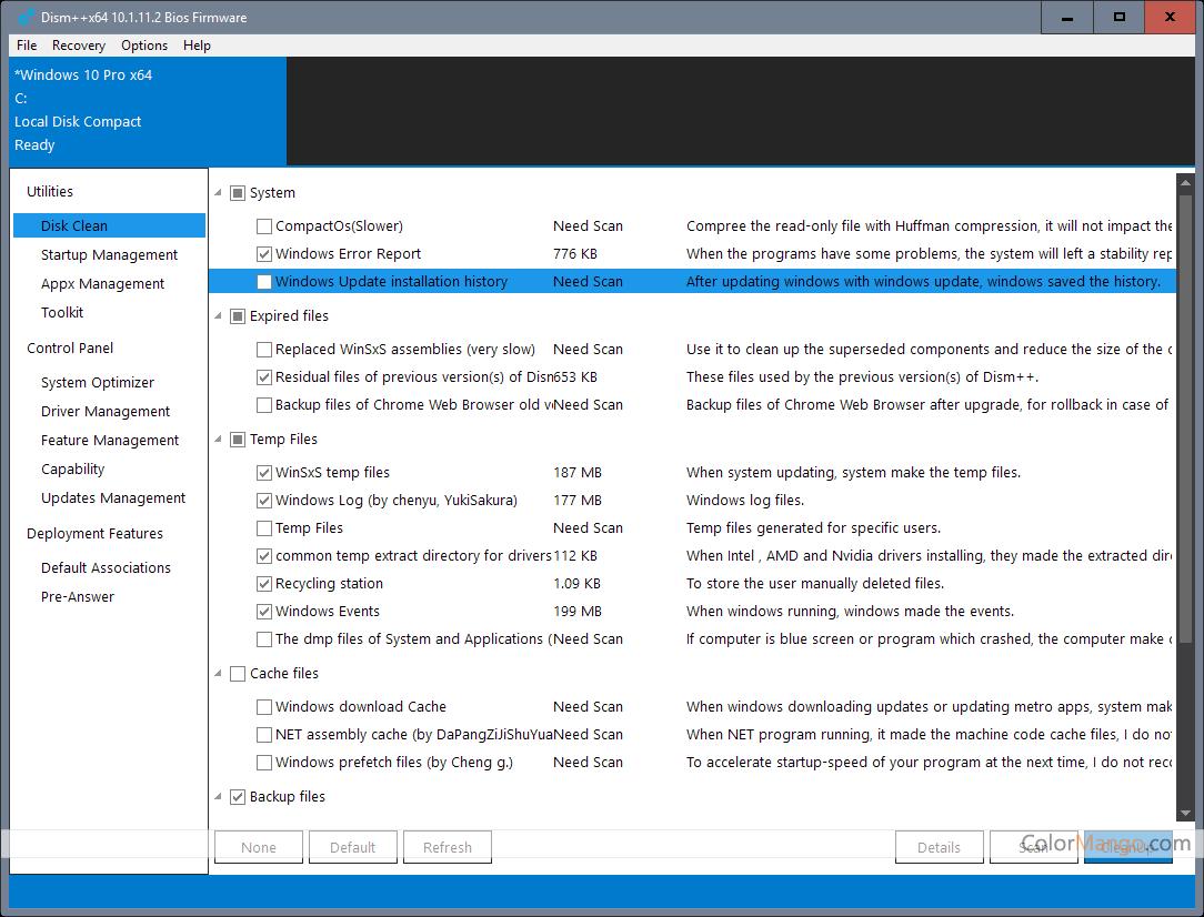 Dism++ Screenshot
