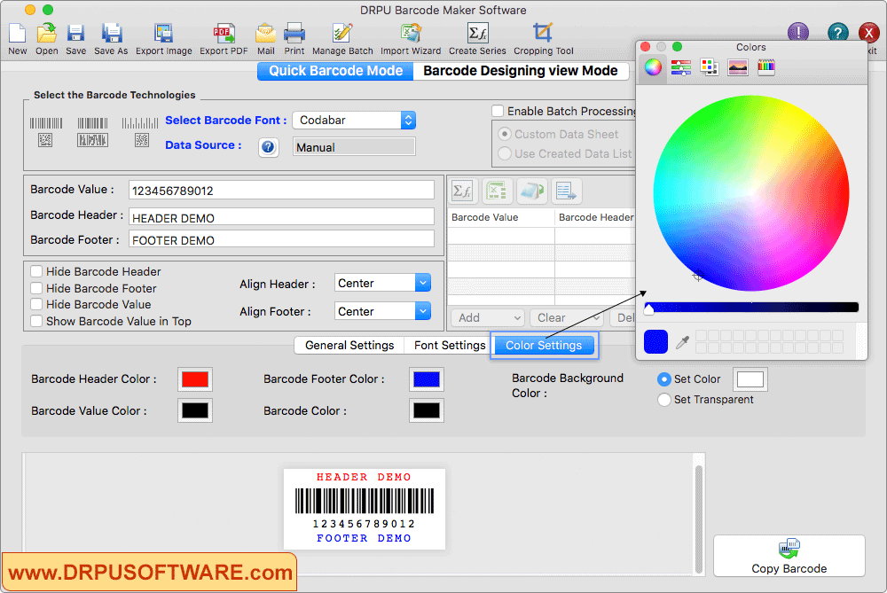 DRPU Barcode Label Maker Screenshot
