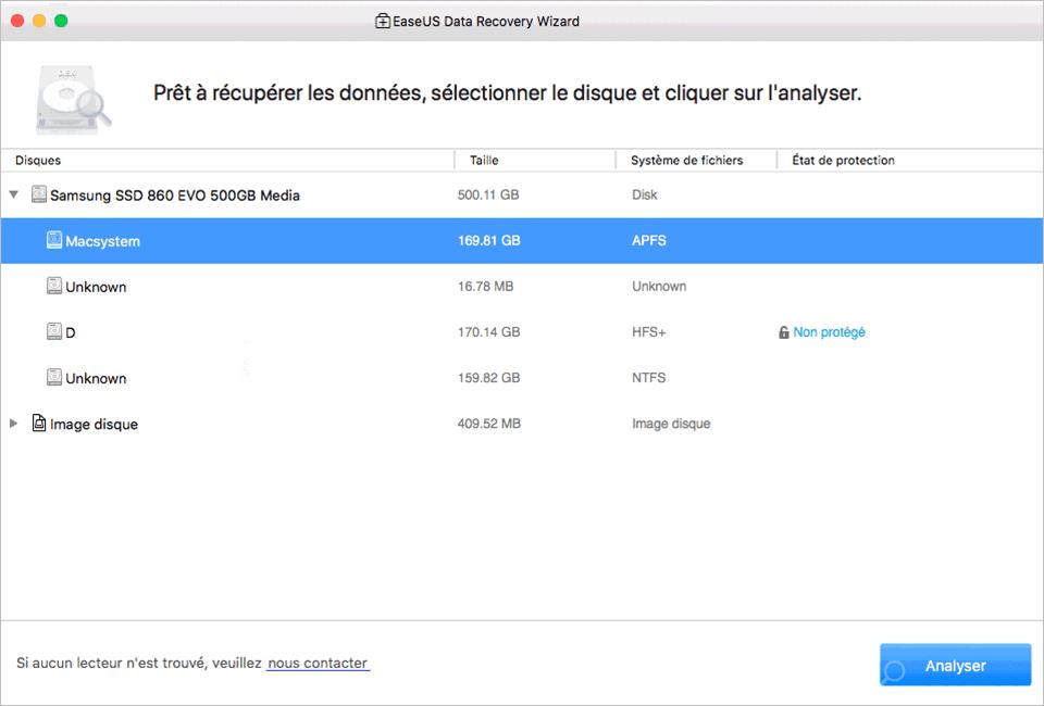 EaseUS Data Recovery Wizard for Mac Screenshot