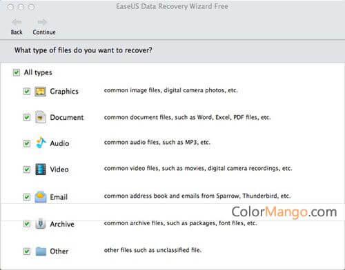 EaseUS Data Recovery Wizard for Mac Free Screenshot