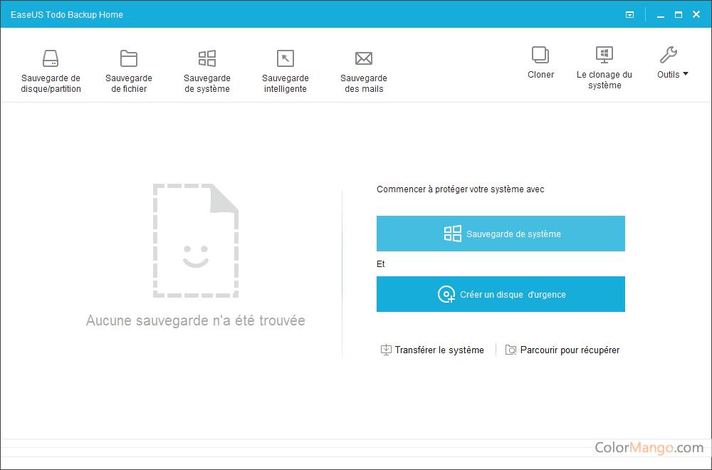 EaseUS Todo Backup Home Screenshot