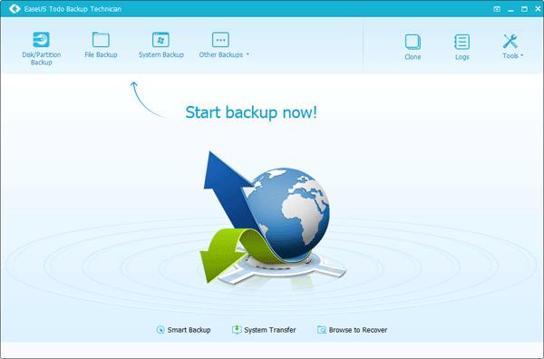 EaseUS Todo Backup Technician Screenshot