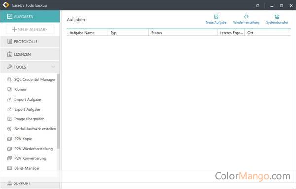 EaseUS Todo Backup Workstation Screenshot