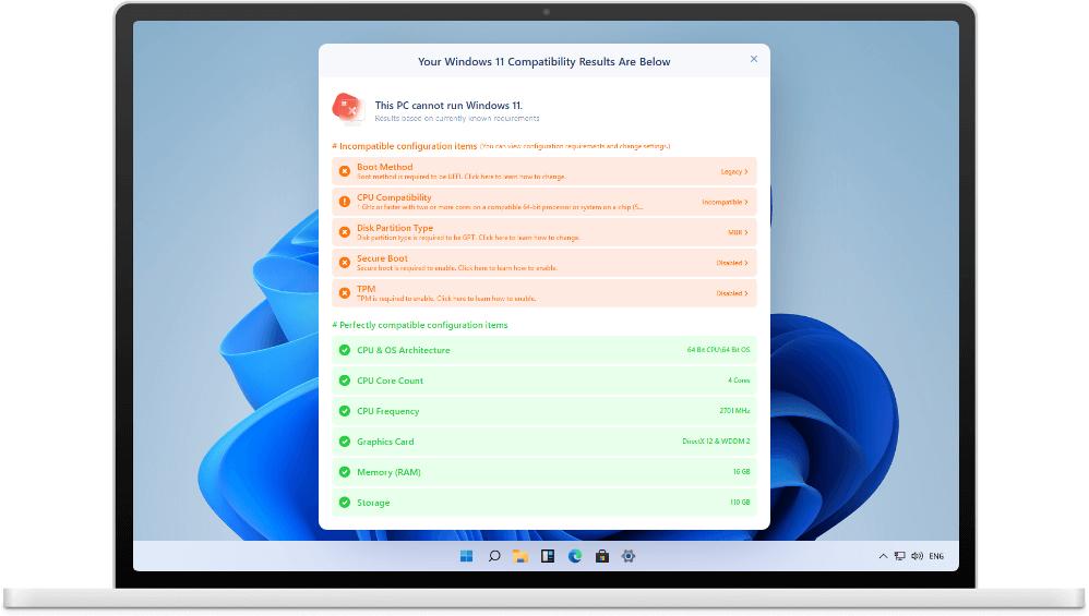 EaseUS Troubleshooting Toolkit Screenshot