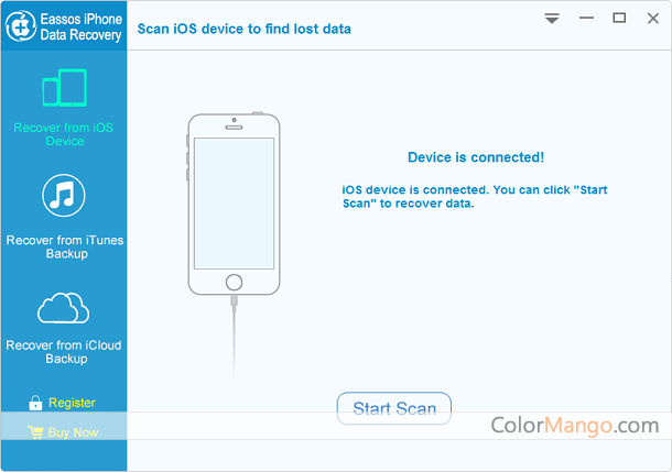 EASSOS iPhone Data Recovery Screenshot