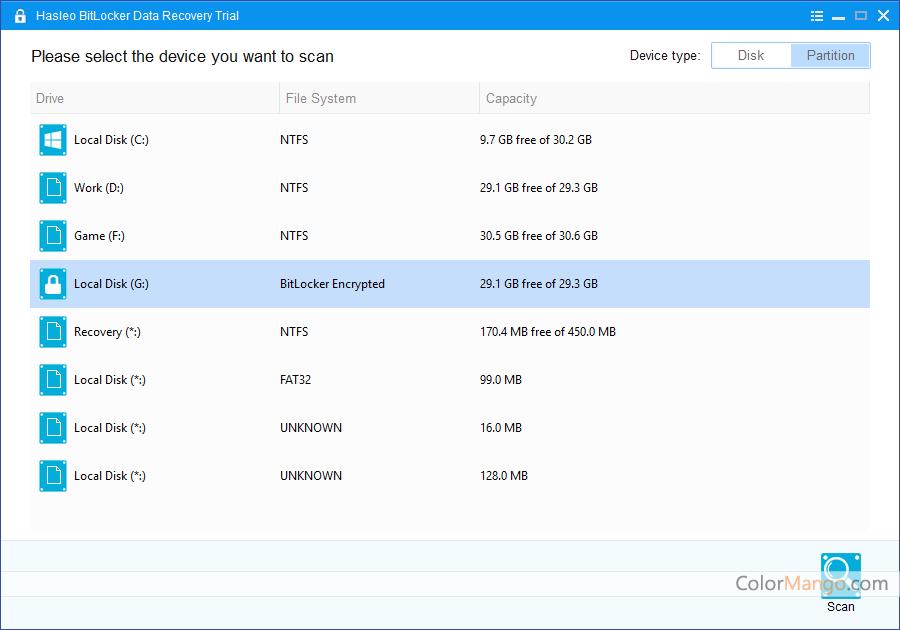 Hasleo BitLocker Data Recovery