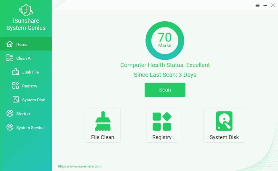 iSunshare System Genius Screenshot