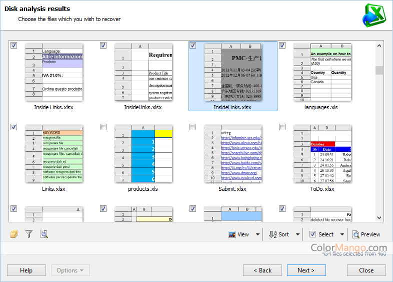 Magic Excel Recovery Screenshot