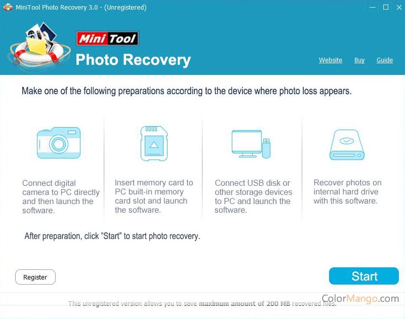 MiniTool Photo Recovery Screenshot