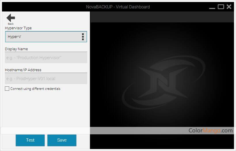 NovaBACKUP Server Screenshot