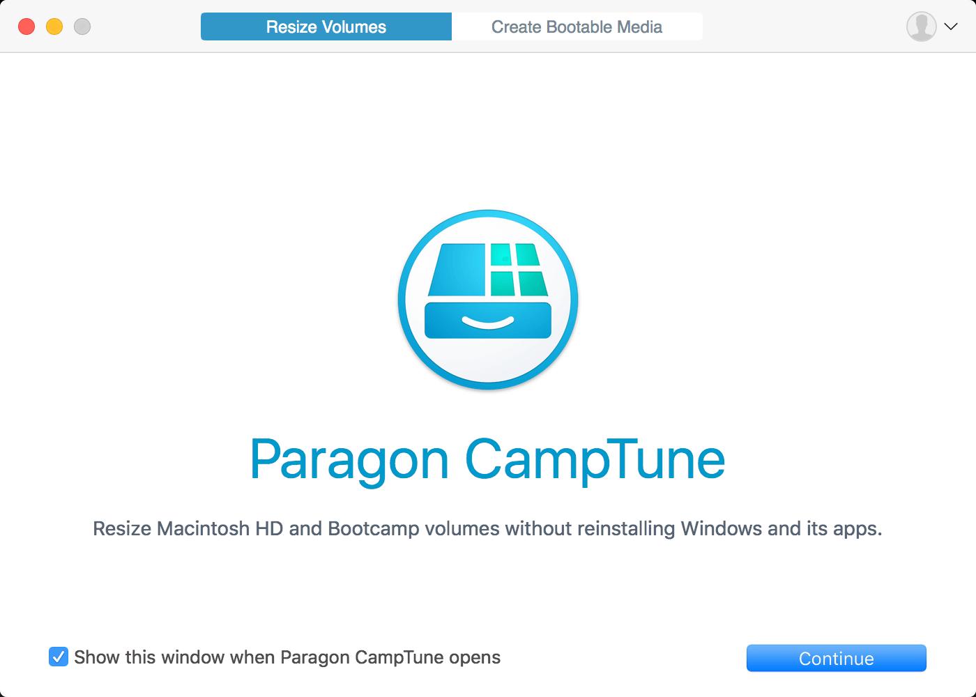 Paragon CampTune Screenshot