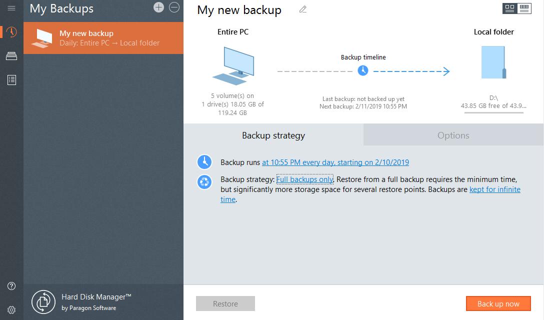 Paragon Hard Disk Manager Screenshot