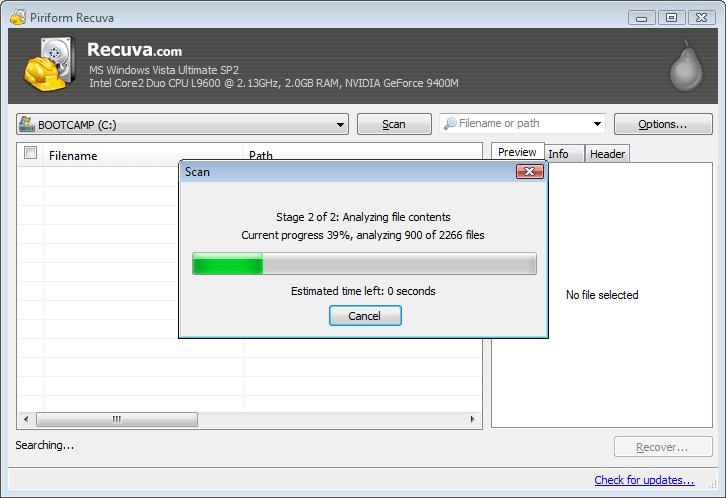 Recuva Free Screenshot