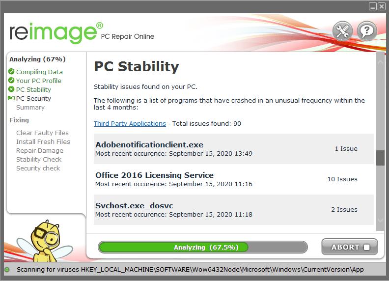 Reimage PC Repair Screenshot
