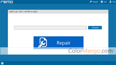 Remo Repair AVI Screenshot