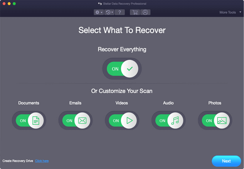 Stellar Data Recovery for Mac Screenshot