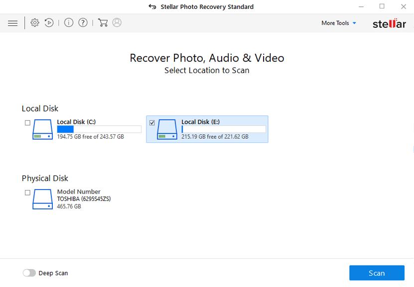 Stellar Photo Recovery Screenshot