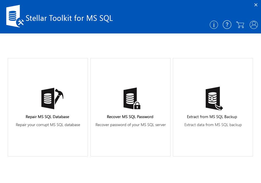 Stellar Toolkit for MS SQL Screenshot
