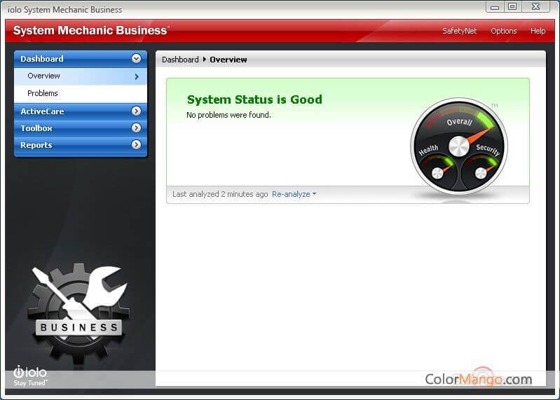 System Mechanic Business Screenshot
