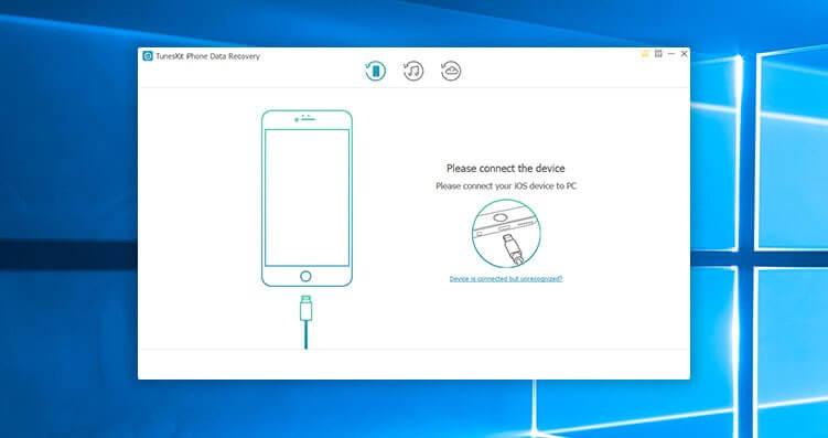 TunesKit iPhone Data Recovery Screenshot