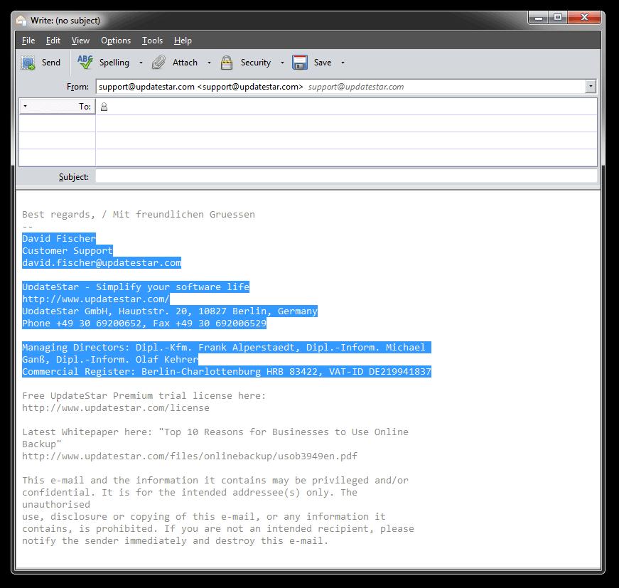 UpdateStar SigParser Screenshot