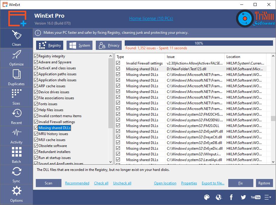 WinExt Pro Screenshot