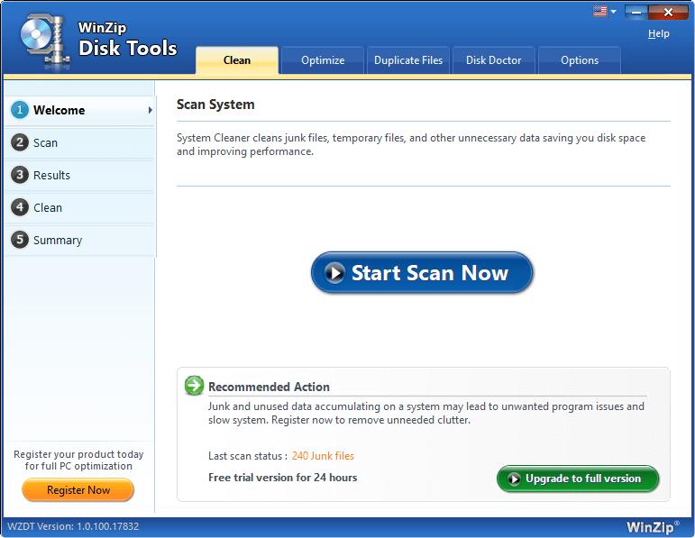 WinZip Disk Tools Screenshot