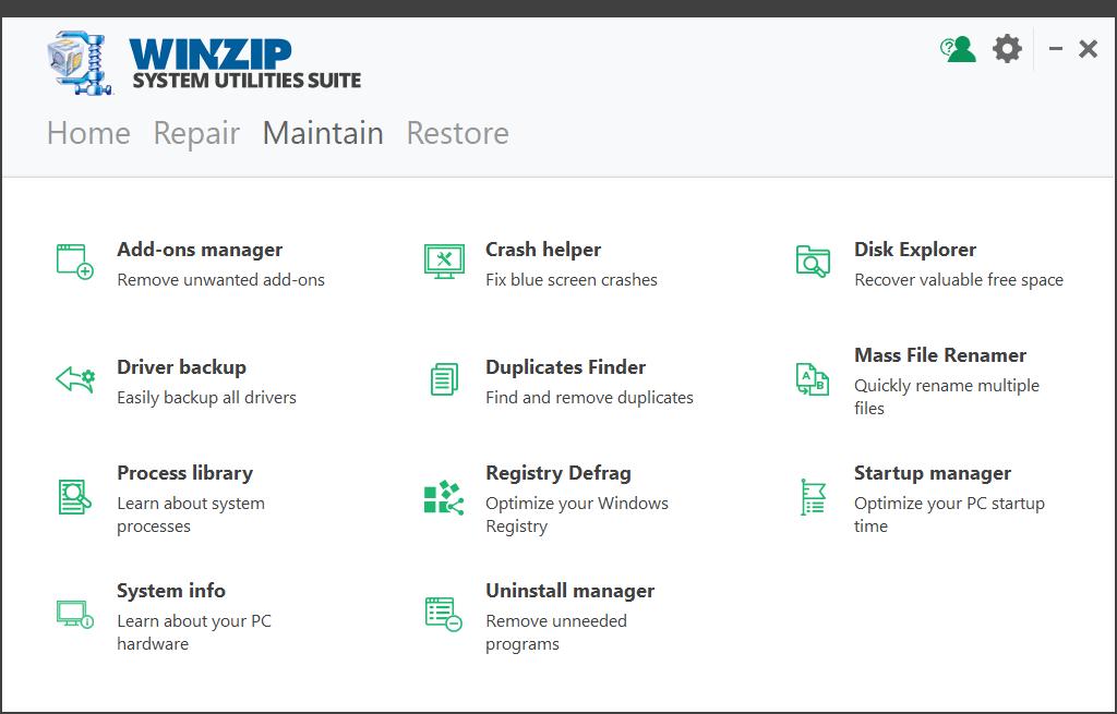 WinZip System Utilities Suite Screenshot