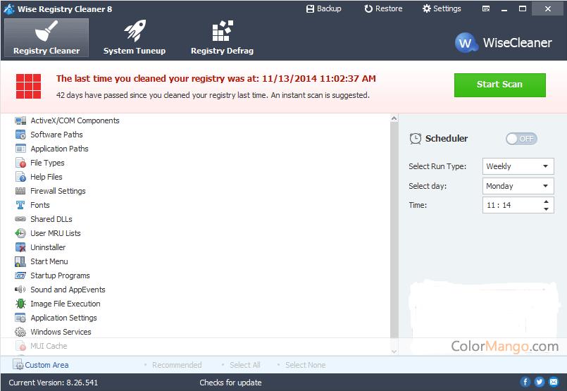 Wise Registry Cleaner Pro Screenshot