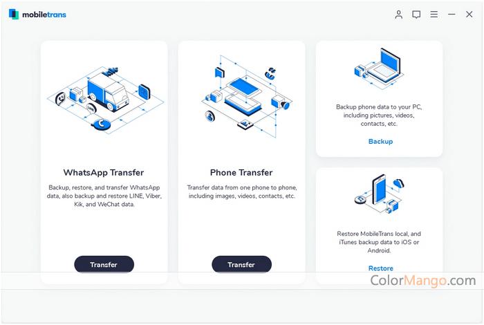 Wondershare MobileTrans Screenshot